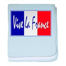 French Flag Vive La France baby blanket