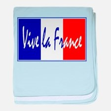 French Flag Vive La France baby blanket