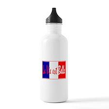 French Flag Vive La France Water Bottle