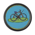 Bicycle Large Wall Clock
