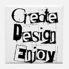 Create Design Enjoy Tile Coaster