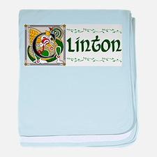 Clinton Celtic Dragon baby blanket