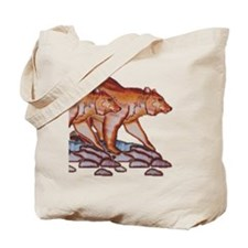 HUNTING BEARS_STREAM_ROCKS_ Tote Bag