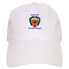 3rd Battalion 4th Marines with Text Baseball Cap