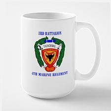 3rd Battalion 4th Marines with Text Mug