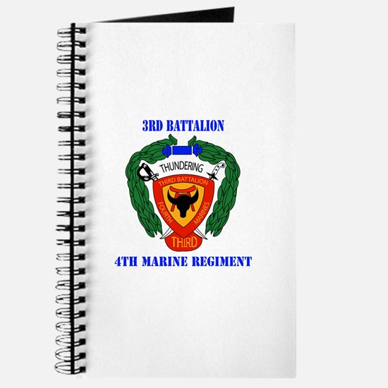 3rd Battalion 4th Marines with Text Journal