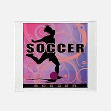 2011 Girls Soccer 2 Throw Blanket