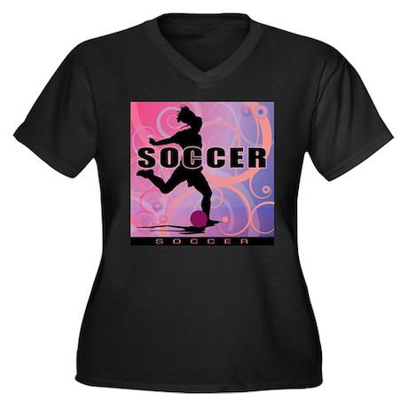 2011 Girls Soccer 2 Women's Plus Size V-Neck Dark