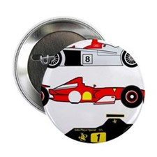 """Formula one racing car 2.25"""" Button (10 pack)"""