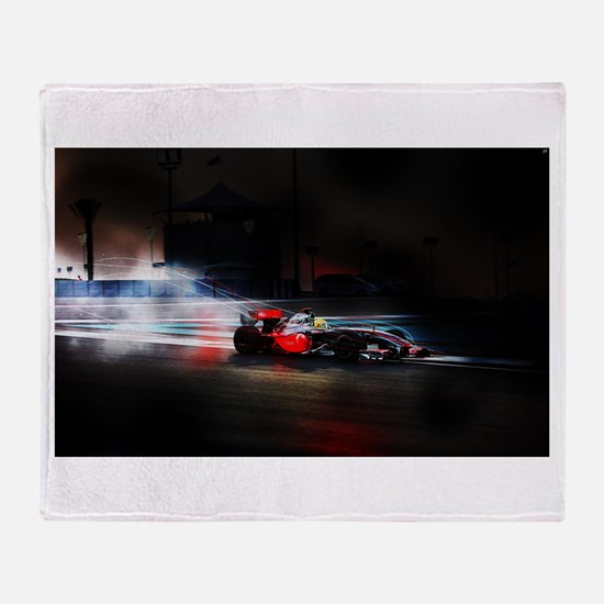 Funny Formula one Throw Blanket