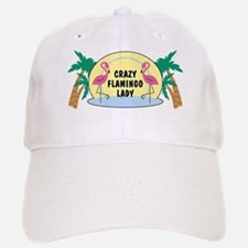 Crazy Flamingo Lady Baseball Baseball Cap