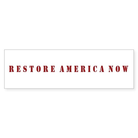 Restore America Now Sticker (Bumper)