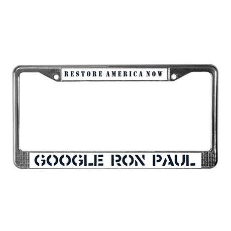 Restore America Now License Plate Frame