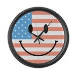 Flag smiley Large Wall Clock