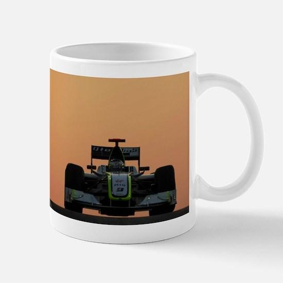 f1 sunset Mugs