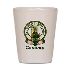 Conway Clan Motto Shot Glass