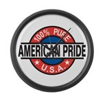 American Pride Large Wall Clock
