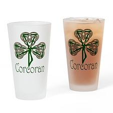 Corcoran Shamrock Drinking Glass