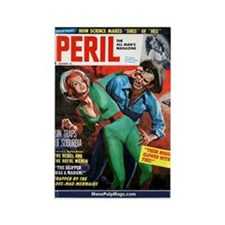 Cute Men's pulp magazines Rectangle Magnet