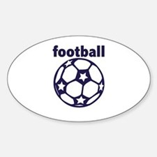 Football Soccer Ball Sticker (Oval)