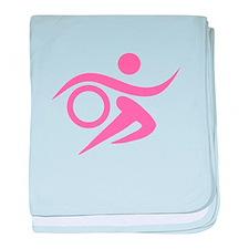 Pink Thriathlete baby blanket