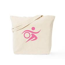 Pink Thriathlete Tote Bag