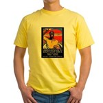 African Poster Yellow T-Shirt