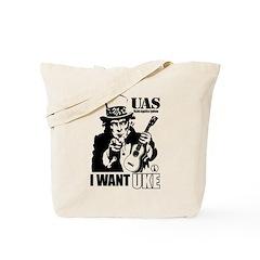 I WANT UKE Tote Bag