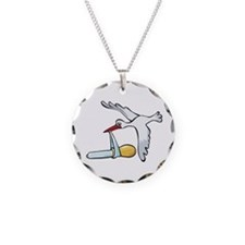 Test Tube Stork Necklace