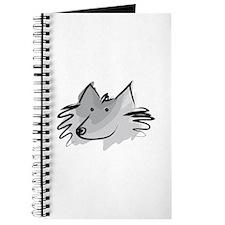 Cute Schipperke dog Journal