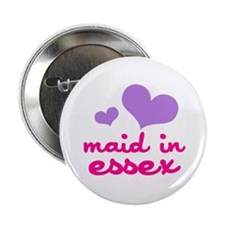 """maid in essex (lilac/pink) 2.25"""" Button"""