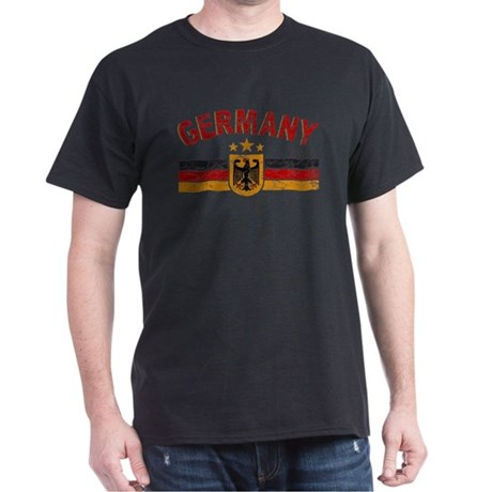 CafePress Germany Sports Shield Dark T-Shirt