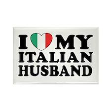 I Love My Italian Husband Rectangle Magnet