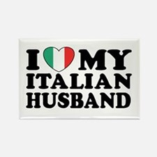 I Love My Italian Husband Rectangle Magnet