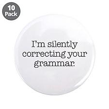 "Corrected Grammar 3.5"" Button (10 pack)"