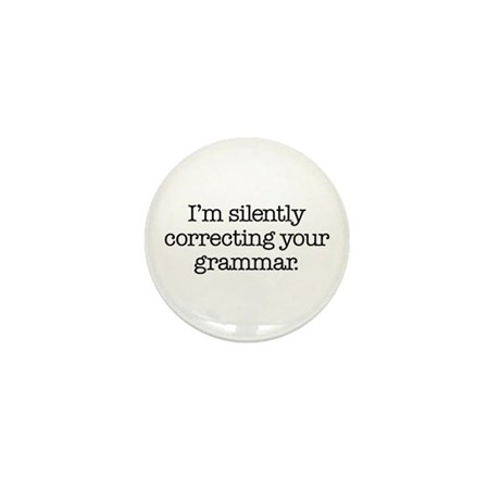 Corrected Grammar Mini Button (100 pack)