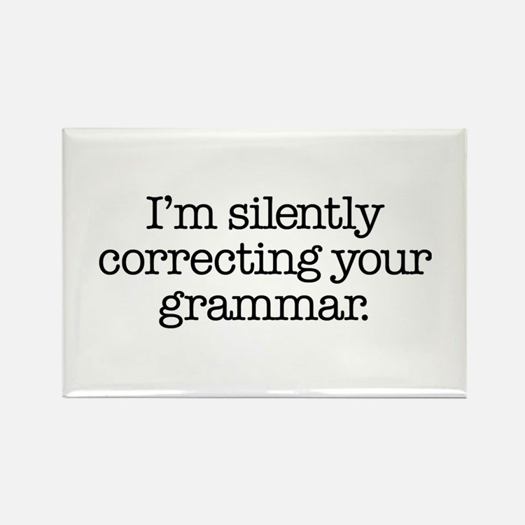 Corrected Grammar Rectangle Magnet