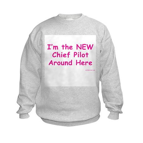New Chief Pilot (Girl) Kids Sweatshirt