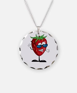 Cool Strawberry Character Necklace