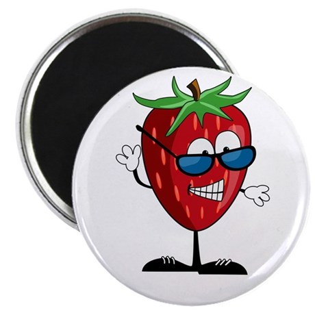 Cool Strawberry Character Magnet