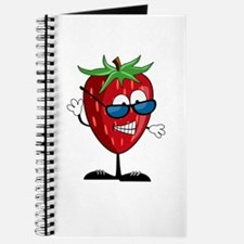 Cool Strawberry Character Journal
