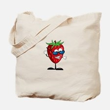 Cool Strawberry Character Tote Bag