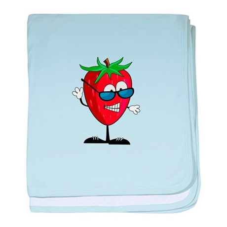 Cool Strawberry Character baby blanket