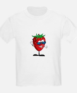 Cool Strawberry Character T-Shirt