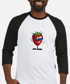 Cool Strawberry Character Baseball Jersey