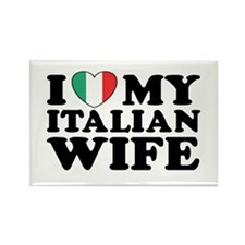 I Love My Italian Wife Rectangle Magnet