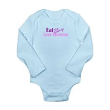 Eat Sleep Love Momma Long Sleeve Infant Bodysuit