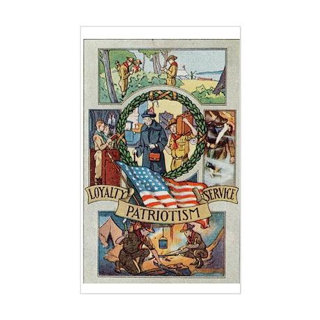 Loyalty Patriotism Service Sticker (Rectangle)