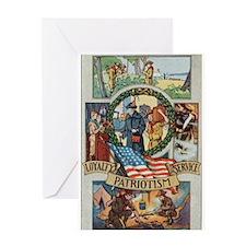 Loyalty Patriotism Service Greeting Card