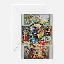 Loyalty Patriotism Service Greeting Cards (Pk of 1